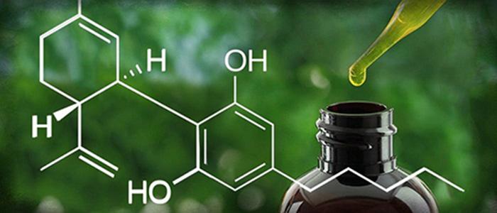 formule-chimique-huile-cbd-de-marijuana-médicale